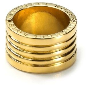 New Michael Kors Barrel Ring Size 7
